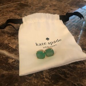 Kate Spade Jade Green Stud Earrings